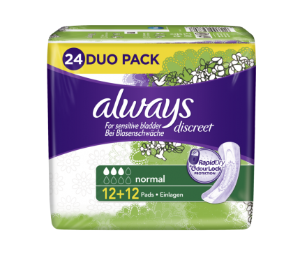 always Discreet Inkontinenz Normal Super Promo Pack - 12 + 12 St.