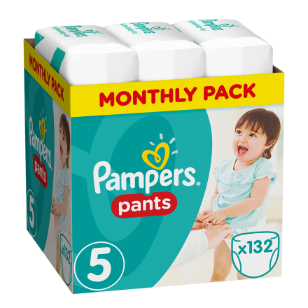 Pampers Baby Dry Pants Gr.5 Junior 11-18kg MonatsBox