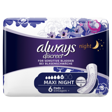 always Discreet Inkontinenz Maxi Night 6