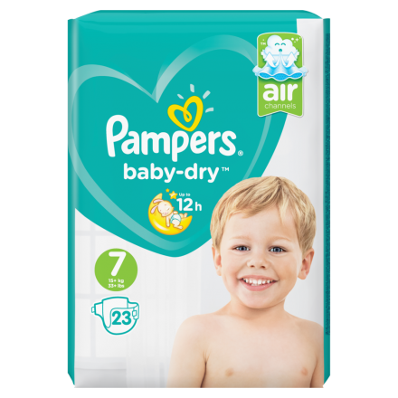 Pampers Baby Dry Gr.7 Extra Large 15+kg Sparpack, 23 Stück