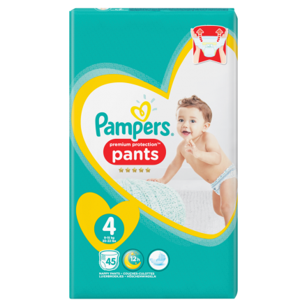 Pampers Premium Protection Pants Gr.4 Maxi 9-15kg Jumbopack