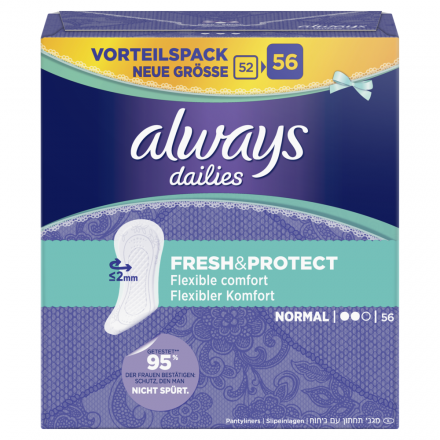 224 St. always Slipeinlage Fresh&Protect Normal Vorteilspack 56er Pack x 4