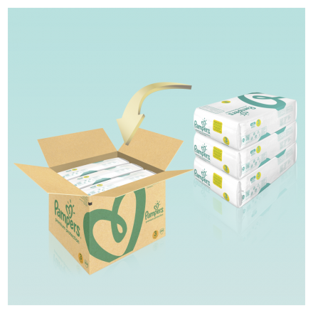 Pampers Premium Protection Gr. 3 Midi 6-10kg MonatsBox, 204 Stück