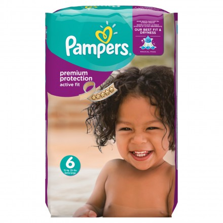 Pampers Active Fit Gr.6 Extra Large 15+ kg MonatsBox, 120 Stück