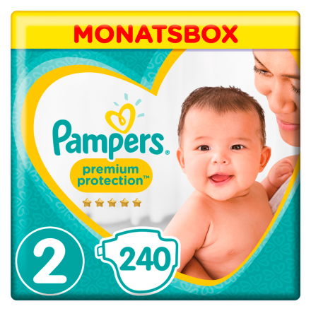 Pampers Premium Protection New Baby Gr.2 Mini 4-8kg MonatsBox, 240 Stück