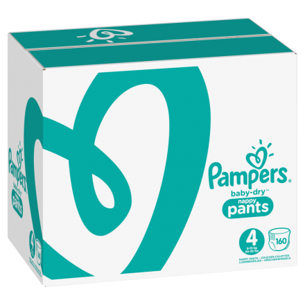 Pampers Baby Dry Pants Gr.4 Maxi 9-15kg MonatsBox, 160 Stück