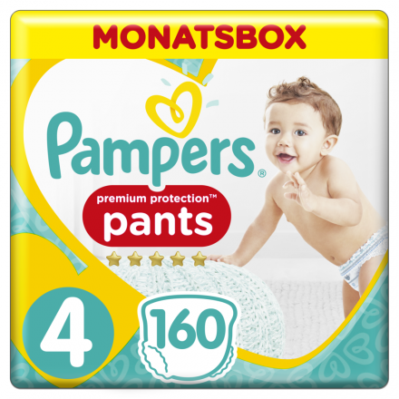 Pampers Premium Protection Pants Gr. 4 Maxi 9-15kg Monatsbox, 160 Stück