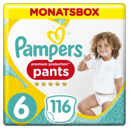 Pampers Premium Protection Pants Gr.6 Extra Large 15+kg Monatsbox, 116 Stück