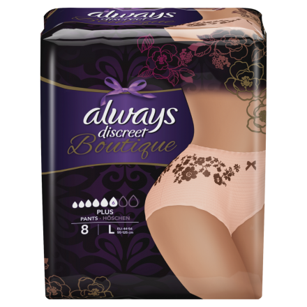 always Discreet Boutique Inkontinenz Pants Plus L 8