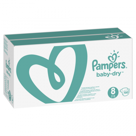 Pampers Baby Dry Gr.8 Extra Large 17+kg MonatsBox, 100 Stück