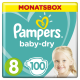 Pampers Baby Dry Gr.8 Extra Large 17+kg MonatsBox, 100 Stück - <Titel>