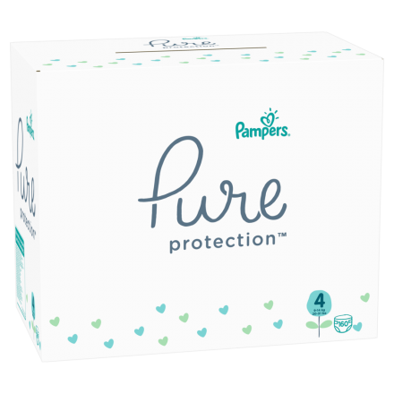 Pampers Pure Protection Gr. 4 Maxi 9-14 kg MonatsBox, 160 Stück
