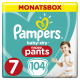 Pampers Baby Dry Pants Gr. 7 Extra Large Plus 17+ kg Monatsbox, 104 Stück