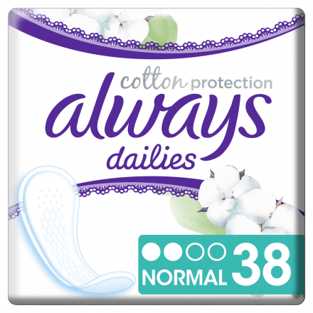 380 St.always Slipeinlage Cotton Protection Normal 38er Pack x 10