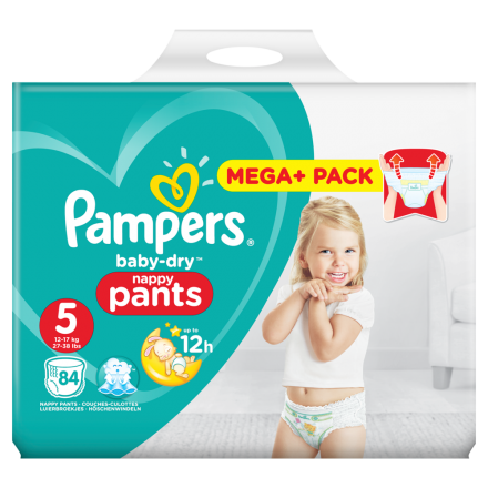 01fa8c540e0c0c Pampers Baby Dry Pants Gr.5 Junior 12-17kg Mega Plus Pack