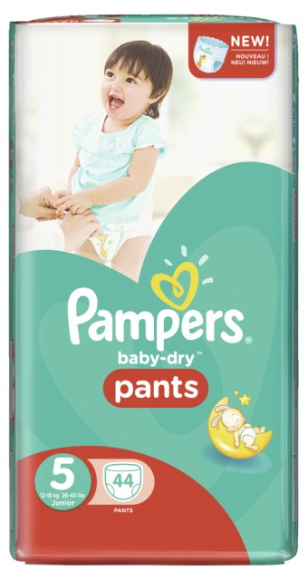 Pampers Baby Dry Pants Gr.5 Junior 12-18kg Big Bag mit 44 Windeln