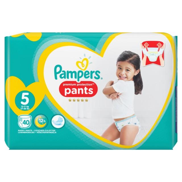Pampers Premium Protection Pants Gr.5 Junior 12-17kg Jumbopack, 40 Stück Windeln