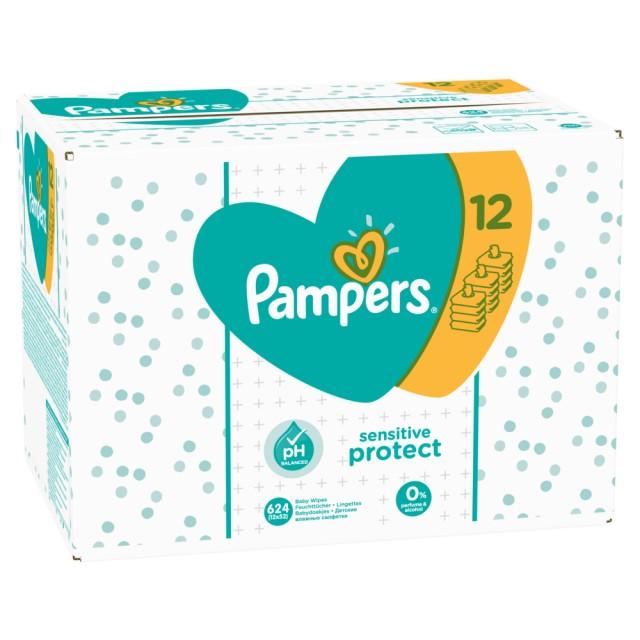Pampers Feuchte Tücher Sensitive Vorteilspack Giga 12x, 624 Stück Feuchttücher