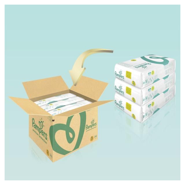 Pampers Premium Protection Gr. 3 Midi 6-10kg MonatsBox, 204 Stück Windeln