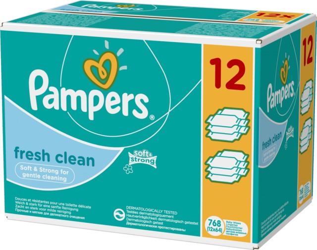 Pampers Feuchte Tücher Fresh Clean Sparpack mit 768 Stück Tüchern