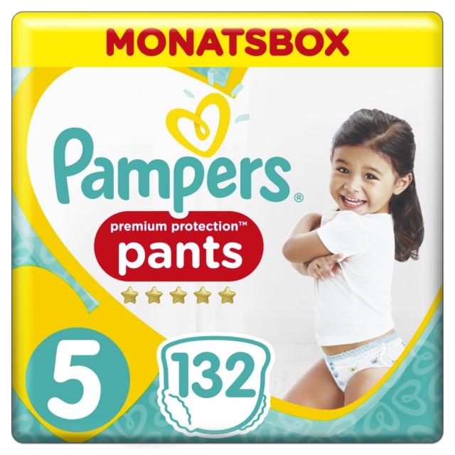 Pampers Premium Protection Pants Gr. 5 Junior 12-17kg Monatsbox, 132 Stück
