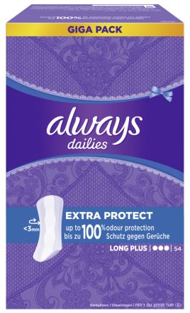 216 St. always Slipeinlage Extra Protect Long Plus Gigapack 54er Pack x 4